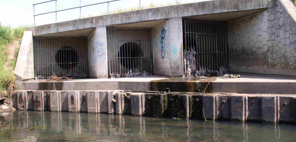 Three large Combined Sewage Overflows
